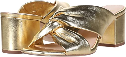 Metallic Gold Leather