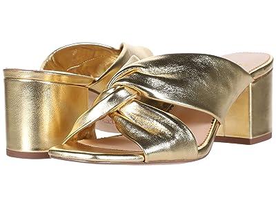 J.Crew Twisted Carmen Sandal (Metallic Gold Leather) Women