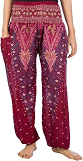 LOFBAZ Harem Pants for Women Yoga Boho Hippie Clothing Womens Palazzo Bohemian Pajama Beach Indian Gypsy Genie Clothes Pea...