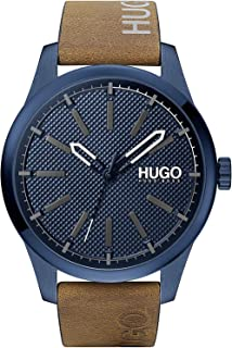Hugo Boss Men's Blue Dial Brown Leather Watch - 1530145