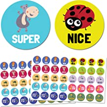 [Pack of 1000] Animal Reward Stickers with Motivational Messages - 1