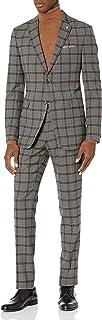 Men's Slim Fit, 2pc Suit with Unfinished Bottom Hem