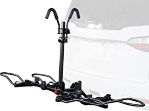 Overdrive Sport 2-Bike Hitch Mounted Rack for Standard, Fat Tire, and Electric Bicycles - Extra Heavy Weight Capacity (60 lbs/Bike) - Smart Tilting, Platform Tray Style, Anti-Wobble - 1.25