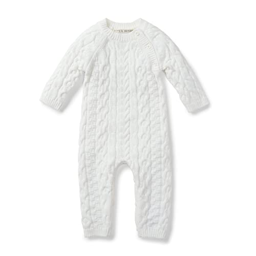 f16748408 Hope & Henry Layette Cable Knit Sweater Romper