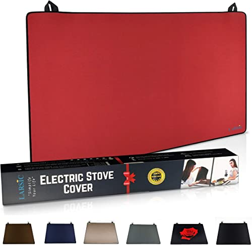 Larsic Stove Cover - Thick Natural Rubber Sheet Protects Electric Stove Top. Anti-Slip Coating, Waterproof, Heat Resi...