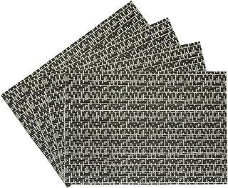 Benson Mills Oasis Set of 4 vinyl placemat, Black