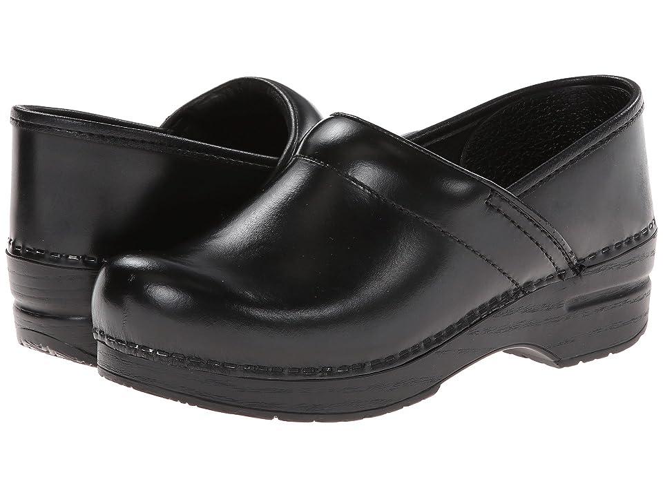 Dansko Professional (Black Cabrio Leather) Clog Shoes