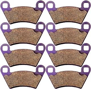 Carbon Fiber Brake Pads ECCPP Motorcycle Replacement Front and Rear Braking Pads Kits Set for 2004-2014 Polaris Ranger 800 Midsize EFI Ranger 400 4X4 2x4