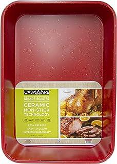 casaWare Grande Lasagna/Roaster Pan 18 x 12 x 3-Inch - Extra Large, Ceramic Coated NonStick (Red Granite)