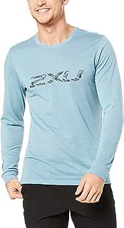 2XU Men's Urban Long Sleeve Cuffed Top, Smoke Blue/Smoke Blue