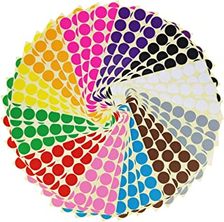 LJY 0.98 inch Round Dot Stickers Color Coding Labels, 12 Dif