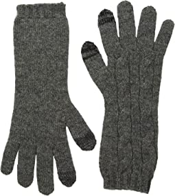 Cashmere Classic Cable Touch Gloves