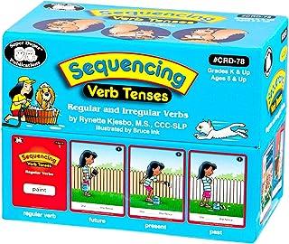 Super Duper Publications | Sequencing Regular and Irregular Verb Tenses Fun Deck | Early Reader and Grammar Flash Cards | ...