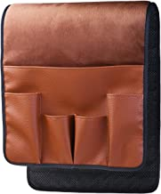 ALLENLIFE Space Saver Sofa Couch Chair Armrest Organizer,Magazine Rack, Draped Over Sofa, Couch, Recliner Armrest for Remote Control, Cell Phone, Book, Pencil (Brown)