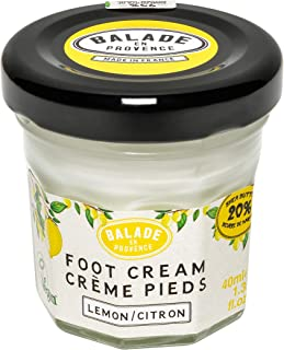Balade En Provence Natural Shea Butter Foot Cream, Lemon - Quick-Absorbing Dry Skin Relief, Vegan Certified, Cruelty-Free, No Sulfates, Parabens Free, Natural Ingredients 1.35 oz