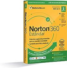 Norton 360 Estándar 2021 - Antivirus software para 1 Dispositivo y 1 año de suscripción con renovación automática, Secure ...