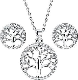 "Plata esterlina 925 Collar PLT Rose Flor Colgante 18/"" Niñas Bolsa De Regalo Gratis"