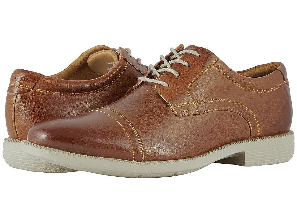 Nunn Bush Dixon Cap Toe Oxford with KORE Walking Comfort Technology (Cognac Multi) Men