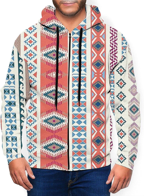Hello Gorgeous Men'S Hoodie Geometric 35% OFF Ethnic Pattern Minneapolis Mall Slim Motifs