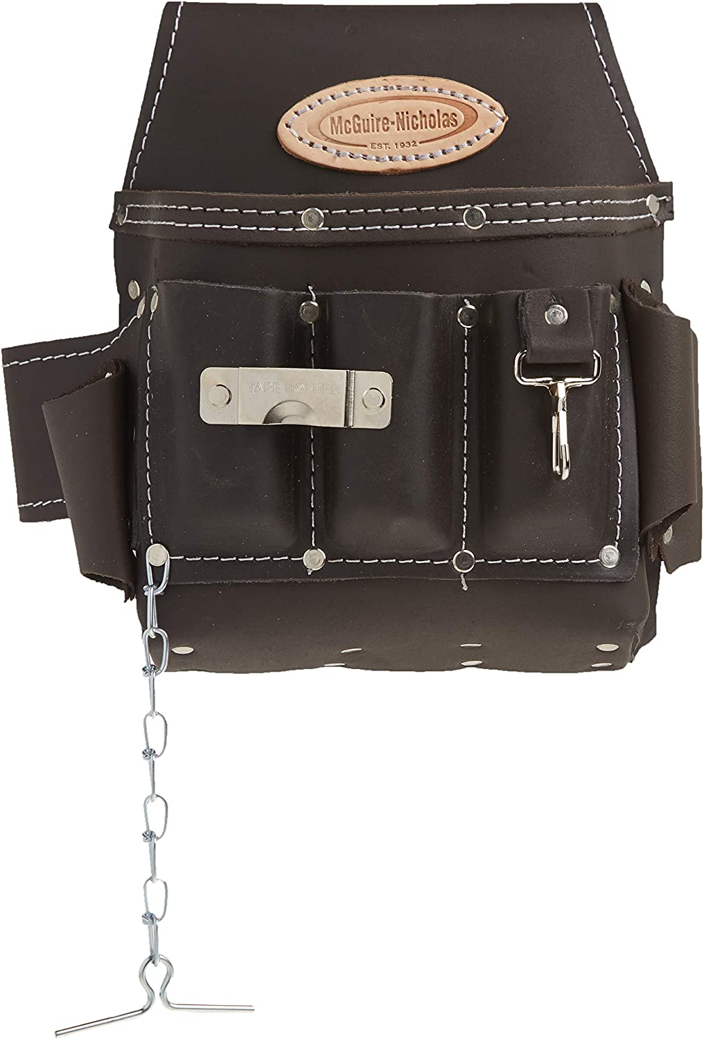 McGuire-Nicholas 526-CC Brown Professional Electrician'S Pouch, oil tanned leather - Tool Bags -