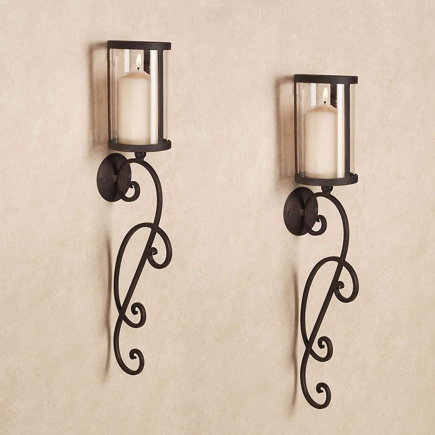 Touch of Class Nico SALENEW very popular New arrival Hurricane Candle Br Wall Antique Sconce Pair