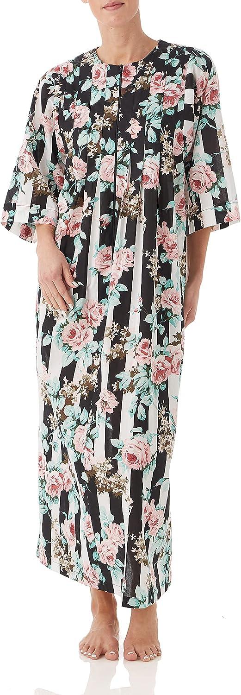 AmeriMark Women's Floral Caftan オープニング 大放出セール – 3 wi Sleeve Long 送料無料 激安 お買い得 キ゛フト Dress House 4
