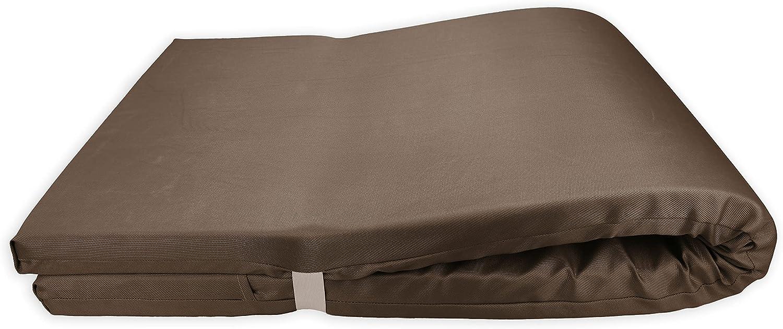 Colchón para Tumbona Impermeable. Cojín 180x60x6 Desenfundable, Cómodo y Elegante. Ideal para Jardín, Piscina, Playa, Terraza y Balcón. (Marrón, 1)