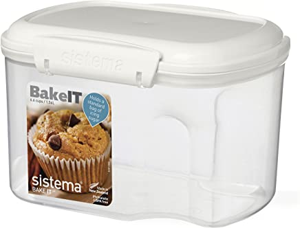 Sistema Bake It Food Storage for Baking Ingredients,  Powdered Sugar Container 6.6 Cups