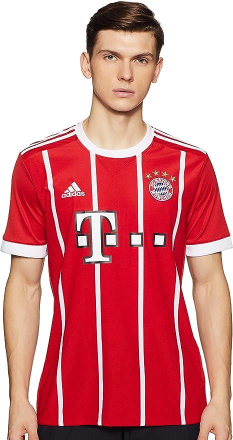 adidas FC Bayern München Home Replica Jersey 2017/18, Maglietta Uomo