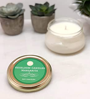 Margarita Scented Soy Candle in Glass Tureen Handmade, 6oz