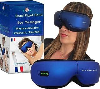 Appareil Massage des Yeux. Masque Oculaire Massant Chauffant, Musique Bluetooth. Soulage sécheresse fatigue oculaire, anti...