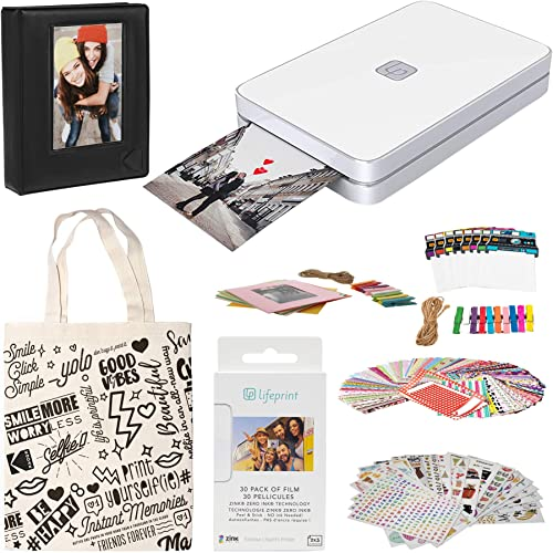 lowest Lifeprint 2x3 Portable Photo and Video wholesale sale Printer (White) Sticker Edition outlet online sale