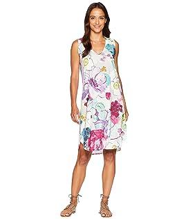 Sleeveless Purple Floral Dress