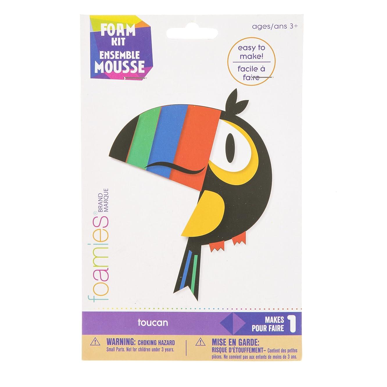 Darice 30041741 Foam Toucan, 14 Pieces Activity Kit, Multicolor