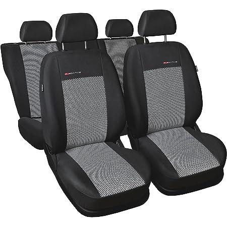 Gsmarkt Universal 5 Sitze Grau Sitzbezüge Komplettset Sitzbezug Für Auto Sitzschoner Set Schonbezüge Autositz Autositzbezüge Sitzauflagen Sitzschutz Elegance Auto