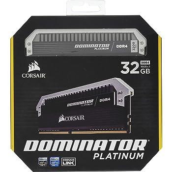 Corsair Dominator Platinum 32GB (2x16GB) DDR4 3200MHz C16 Desktop Memory, Model Number: CMD32GX4M2C3200C16