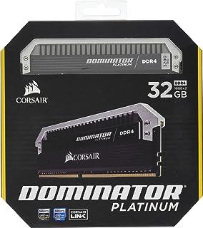 CORSAIR DOMINATOR Platinum 统治者铂金 32GB (2x16GB) DDR4 3200 (PC4-25600) C16 内存 - 用于 Intel 100