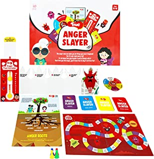 Toiing Anger Slayer - Fun Anger Management Kit with Board Game and Learning Tools for 5 to 8 Year Old Kids