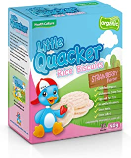 Little Quacker Strawberry Flavour Rice Biscuits, 40 g