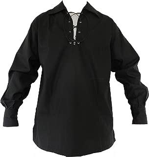 mens black renaissance shirt