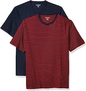 Men's Regular-fit Slub Raglan Crew T-Shirt Men's Performance Cotton Short-Sleeve T-Shirt Amazon Brand - Peak Velocity Men's VXE Short Sleeve Quick-dry Loose-Fit T-Shirt Men's 2-Pack Performance Tech T-Shirt Men's 2-Pack Loose Fit Short-Sleeve Crewneck T-shirt