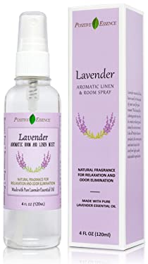 Lavender Linen and Room Spray, Made with Pure Lavender Essential Oil, Natural Pillow Spray, Relaxing Home Fragrance, Sleep Spray, and Bathroom Spray