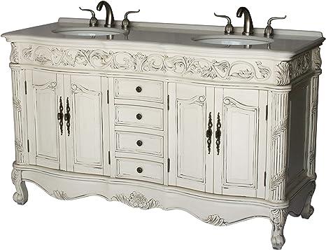 Amazon Com 60 Inch Antique Style Double Sink Bathroom Vanity Model 7660 B Tools Home Improvement