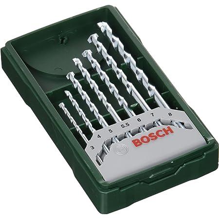 Bosch Professional 2607019581 Bosch Mini X-Line-Set de 7 Brocas para Piedra (Ø 3/4/5/5,5/6/7/8 mm), Piezas