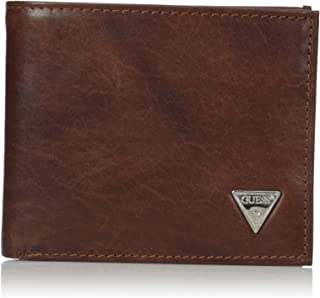 GUESS mens Leather Passcase Wallet Wallet