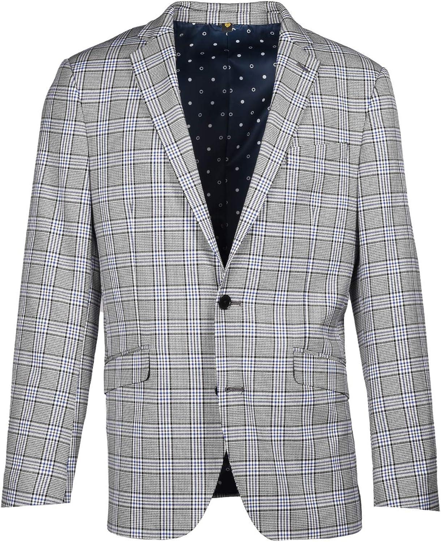 Craft & Soul Men's Slim Fit Suit Separates Pattern Jacket Blazer Coat