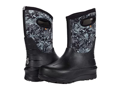 Bogs Kids Neo-Classic Micro Camo (Toddler/Little Kid/Big Kid) (Black Multi) Boy