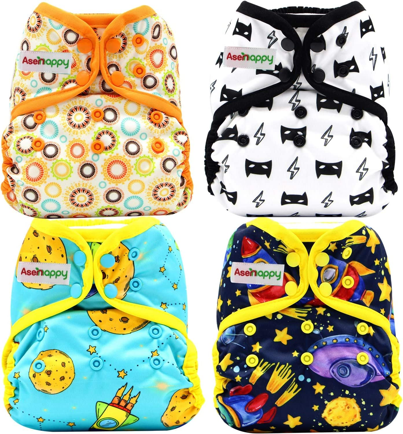4 PCs Cloth Diaper Adjustable Size Reusable OFFicial store Pre discount Thin with