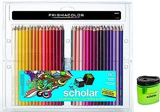 Prismacolor Scholar Colored Pencils 60 Assorted Colors (92808) + Prismacolor Scholar Colored Pencil Sharpener (1774266)