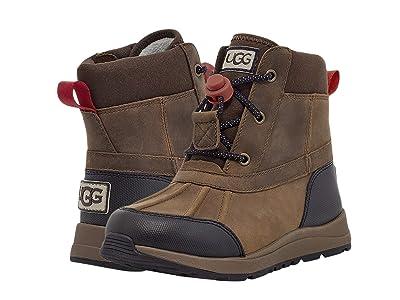 UGG Kids Turlock Leather (Toddler/Little Kid/Big Kid) (Walnut) Boy